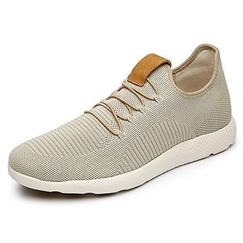 LANGBAO Zapatos de caminar para hombre de malla de punto casual zapatos atléticos ligeros mocasines cómodos, color, talla 42 2/3 EU