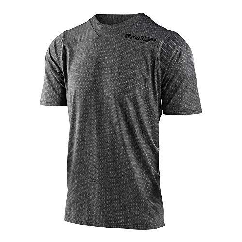 Troy Lee Designs Mens Short Sleeve   All Mountain   Mountain Bike   Skyline Jersey (Heather Dark Gray, XL)