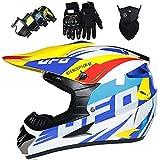 Casco de motocross, Casco MX para niños Casco integral para adultos Casco...