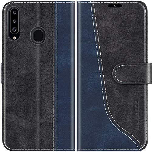 Mulbess Funda para Samsung Galaxy A20s, Funda Móvil Samsung Galaxy A20s, Funda Libro Samsung Galaxy A20s con Tapa Magnética Carcasa para Samsung Galaxy A20s Case, Negro