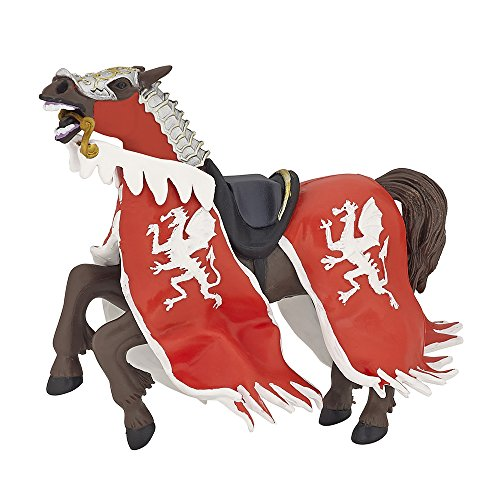 Papo 39388 Red dragon king horse THE MEDIEVAL ERA Figurine, multicolour