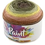 Lanas Katia Paint Ovillo de Color Musgo Cod.76