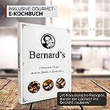 Bernard's® Salz und Pfeffer Mühle (2er Set) mit verstellbarem Keramikmahlwerk I Stilvolle Gewürzmühle & Chilimühle inkl. Gourmet-Kochbuch - 4