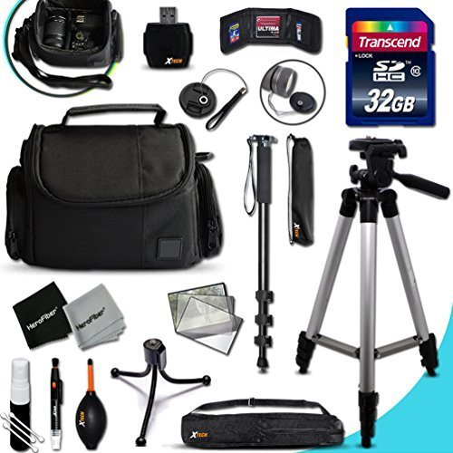 IDEAL Nikon Digital Camera Accessories KIT for Nikon Coolpix AW130, AW120, AW110, AW100, C810, S9900, S7000, S6900, S3700, S2900, S33, S32, S9700, S9500, S80, S60, S220, S210, S205, S200, S700, S600, S750, S520, S510, S500, S9300, S9100, S8200, S8100, S8000, S9300, S9100, S8200, S8100, S8000 S3600, S3500, S3300, S3200, S3100, S3000, S4300, S4200 Digital Cameras Includes: 32GB High Speed SD Memory Card + Pro Grade 60' inch Tripod + Full size 72' Inch Monopod + Well Padded Camera CASE + MORE