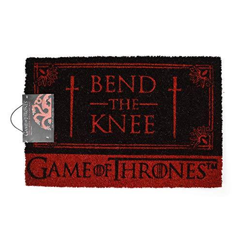 Game Of Thrones Bend The Knee Door Mat Felpudo, Goma, Multicolor, 40 x 60 cm