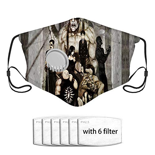Gluttony Wrath King BradleyFace cover adults Activated Carbon Filter Dust COVER with A Valve with 6 Filter