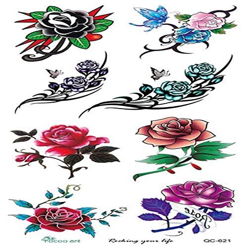 Color Yun Autocollants de Tatouage temporaire imperméable à l'eau Body Art jetable Faux Tatouage géométrique