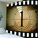 QWEFGDF Tapices de dormitorio Decoración de tapiz utilizada para decoración de fondo 180x230 cm cuenta regresiva