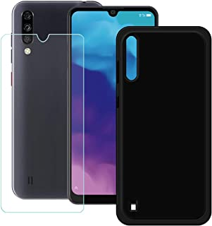 YZKJ Mobilskal för ZTE Blade A7S mobilskal svart mjukt silikon, skyddsskal, TPU, mobilskal med pansarglas, skärmskydd för ...