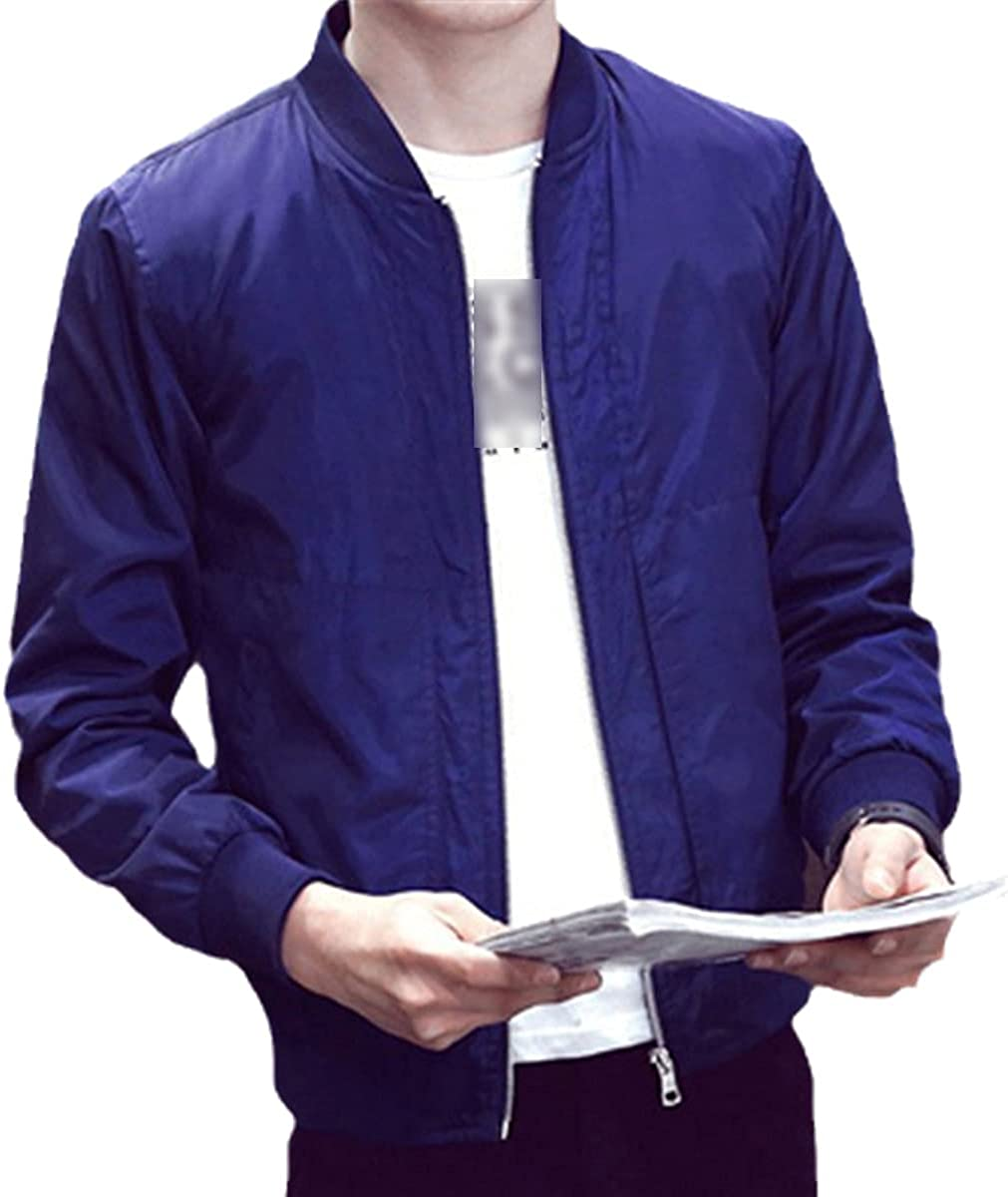Men's Bomber Jacket Spring And Autumn Windbreaker Jacket Casual Solid Color Thin Jacket