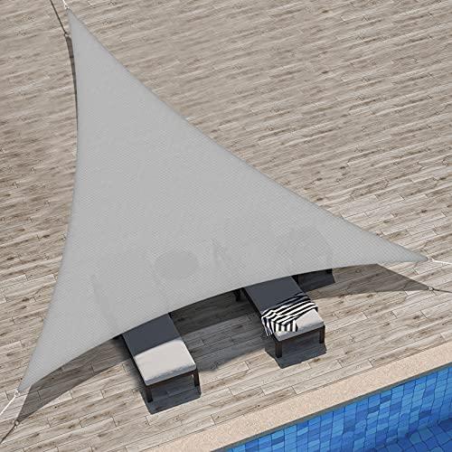 Velway Tenda a Vela Ombreggiante Triangolare 3x3x3m, Telo Parasole Tenda da Sole Esterno...