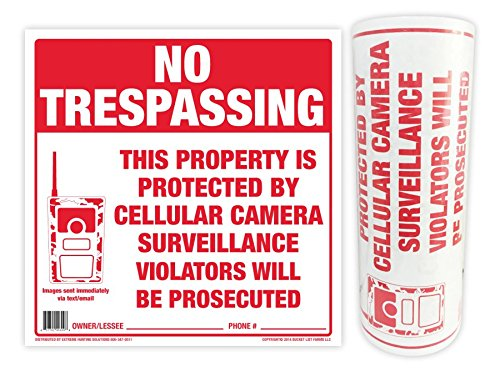 Extreme Hunting Solutions No Trespassing Sign - 100 Pack -
