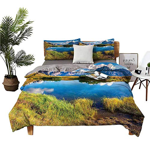 DRAGON VINES Four piece set of single Sunny Summer Morning View sheets cotton Winter bedding W80 xL90