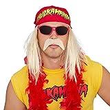 Hulk Hogan Hulkamania Complete Costume Set (Adult X-Large, Red Sunglasses/Red Bandana)