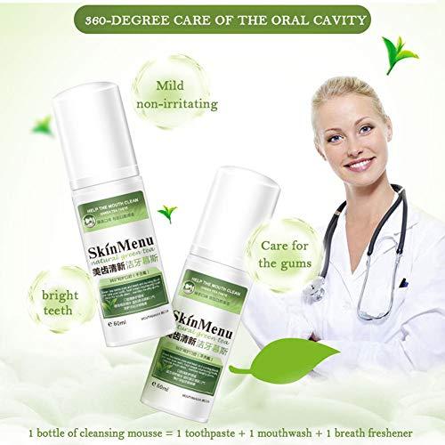Bobora Schaum Zahnpasta Entfernen Sie Zahnbelag Flecken Zahnaufhellung Tiefenreinigung Mundhygiene Perfekt für U-Form elektrische Zahnbürste