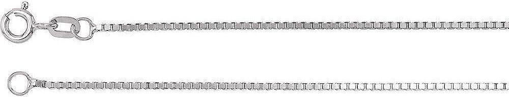 14k Max 52% OFF White Superlatite Gold 1mm Solid Box Chain Necklace 16