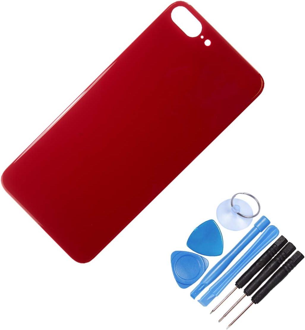 The TECH DOCTOR incluye herramientas dorado kit de reparaci/ón profesional Carcasa trasera de cristal para iPhone 8 Plus