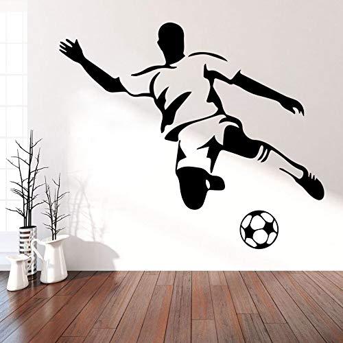 HNXDP Fußball Junge Wandkunst Abziehbilder Wandaufkleber Wandbilder für Kinder Zimmer Dekoration Jungen Schlafzimmer Dekor Tapete FC Abziehbilder Poster 58cmX67cm