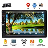 EINCAR Car GPS Navigation Stereo 2 Din MP5 Player Car Head Unit FM Radio Player 7 inch LCD Touch Screen Support Bluetooth/GPS Navigation/Steering Wheel Control with Free Backup Camera