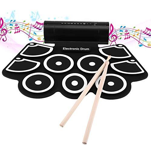 Leshp - Batería electrónica con almohadilla de percusión, tambor enrollable portátil, perfecto para principiantes y niños