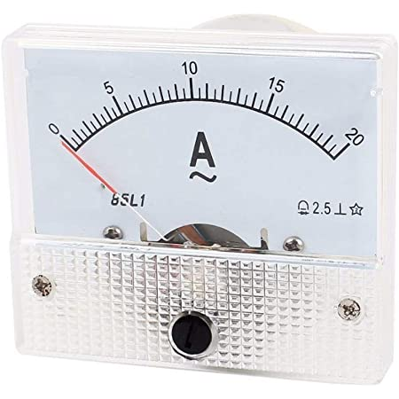 YXQ AC 20A Analog Current Panel 85L1-A Amp Ammeter Gauge Meter 2.5 Accuracy 75mV for Auto Circuit Measurement Tester (AC 20A)