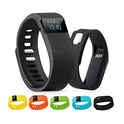 SPOERHXD Smart Armband TW64 Bluetooth Schrittzähler Schlaf Monitor Fitness Tracker Uhr Sport Armband für iOS/Android Phone