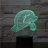 lampara 3D Pared Gorra Deportiva Luces temáticas Navidad 7 Cambios de Color Interruptor táctil y Remoto Navidad