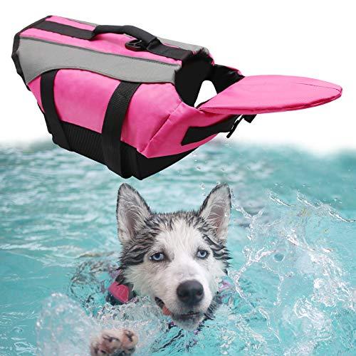 WEARTER Dog Life Jacket with Extra Padding, Reflective & Adjustable Safty Vest, Swimsuit Dog Preserver for Water Safety