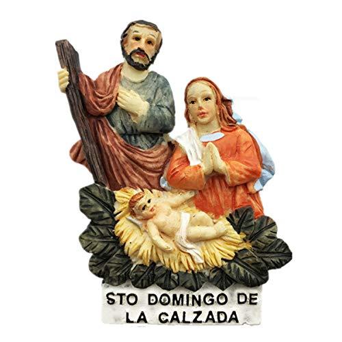 Imán de nevera 3D de Santo Domingo de la Calzada, regalo de recuerdo para el hogar y la cocina, imán para nevera de España