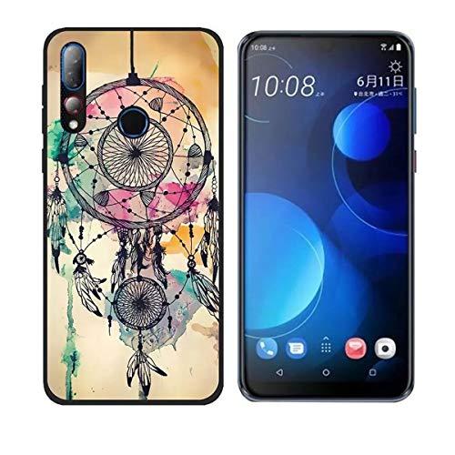 DQG Anti-Fall Schutzhülle für HTC Desire 19 Plus Hülle, Weiche Handytasche Transparent TPU Handyhülle Silikon Tasche Schale rutschfest Case Cover für HTC Desire 19 Plus (6.2