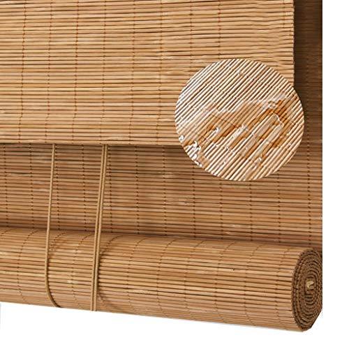 GWDJ persiana enrollable de bambú Persianas Enrollables de Madera Externas - Persianas Enrollables Impermeables para Exteriores, para Instalación En Pasillos, Techos O Paredes de Pabellones