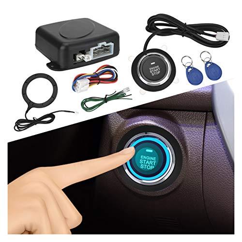 HUAZHUANG 12V One Start Detener Botón Entrada Encendido Interruptor de Inicio Claudo Inicio Starter Antitheft Sistema de Alarma de automóvil Motor del Motor Pulsador