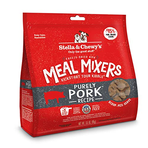 Stella & Chewy's Freeze-Dried Raw Purely Pork Meal Mixers Dog Food Topper, 3.5 oz. Bag