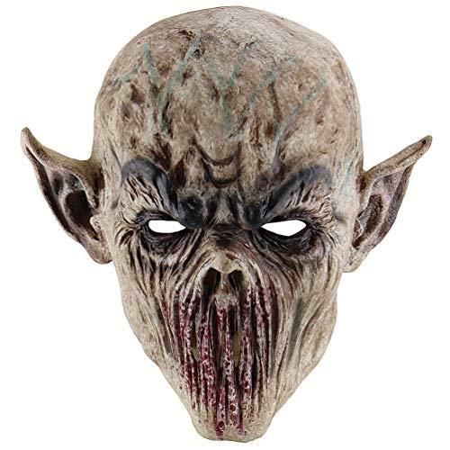 PRETYZOOM Mscara de Terror de Alloween Mscara de Monstruo de Tenedor Mscara de Terror de ORCO Zombie Mscaras de Monstruo de Sangre-Accesorios de Fiesta de Mscara de Monstruo Horrible