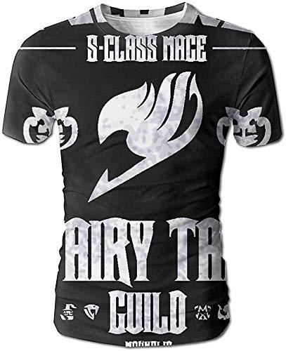 Fairy Tail Herren 3D All Print Kurzarm T-Shirt XXXL