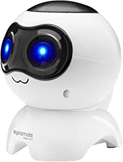 Promate Bluetooth Speaker, Portable Wireless Robot Speaker with 3W Output HD Sound, Micro SD Card Slot, Audio Aux Port, FM Radio and Built-In Microphone for Smartphones, Tablets, Laptop, Marvin