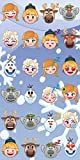 Disney - Toalla de Playa (100% algodón, 70 x 140 cm), algodón, Emoji Frozen, 70 x 140 cm