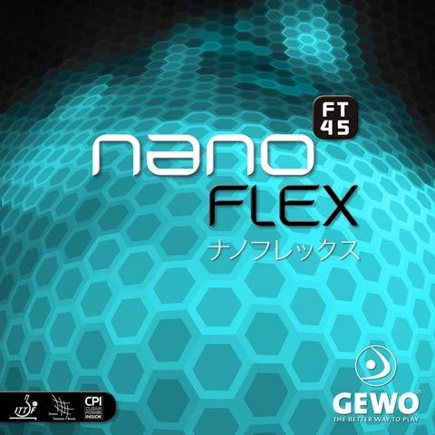 New GEWO nanoFLEX FT45 - Table Tennis Rubber, 2.1 mm Black