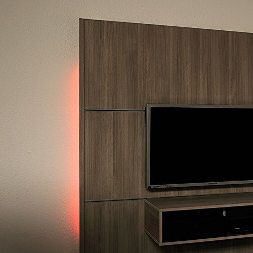 Cinewall Light Sets geeignet für Verwendung in Innen Rot Wandbeleuchtung–Leuchtmittel Lampe (vertieft, quadratisch, 2(S), Rot)