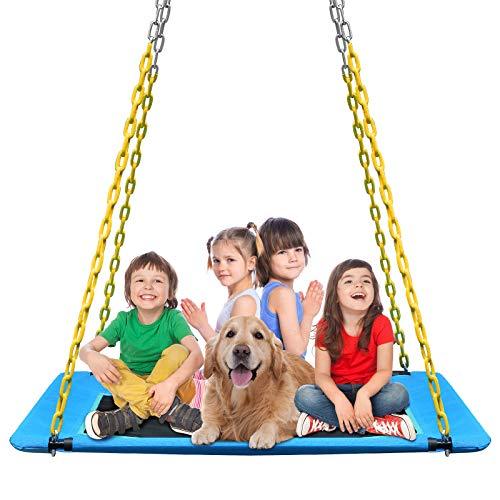 KKTour Platform Tree Swing 60inch Kids Adults Outdoor Large Flying Swings Seat, Textliene Waterproof...