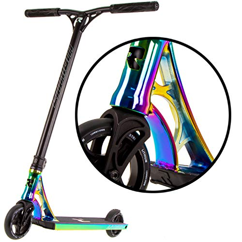Learn More About Lithium Complete Pro Scooter – Stunt Scooters – Perfect for Any Level Freestyle Riders – Pro Scooters for Kids – Quality Scooter Deck, Pro Scooter Wheels – Great Colors – (Rocket Fuel)