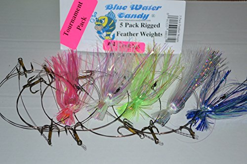 Blue Water Candy 40035 King Rig Tourn Skirted with Featherwrights, 5-Pack