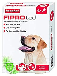Easy to use spot-on Contains fipronil Kills fleas and ticks For dogs over 8 weeks of age and weighing between 20-40kg UK authorised veterinary medicine