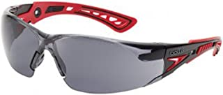 Bolle Safety Rush+ Safety Glasses, Black & Grey Frame, Smoke Lenses