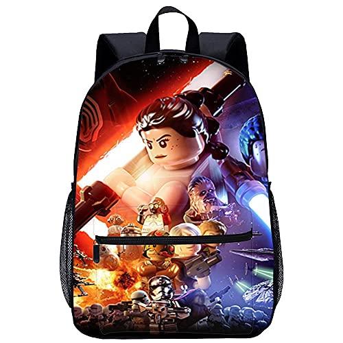 Yebaihe 3d Zainetto per bambini Bambini Zaino Scuola -LEGO Star Wars Il Risveglio della Forzada viaggio unisex di moda Borsa da scuola-Dimensioni: 45x30x15 cm/17 pollici-Zaino Scuola