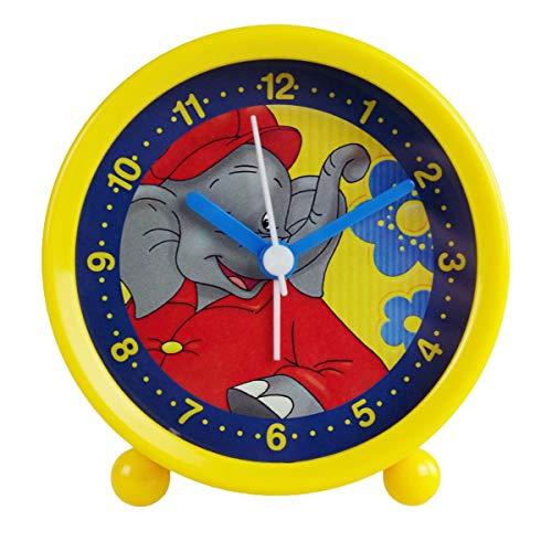 Markenlos Kinderwecker Benjamin Blümchen gelb Quarzwecker Wecker für Kinder Kinderuhr Uhr