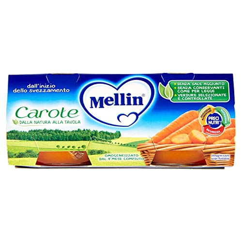 Mellin Omogeneizzato alle Carote 80 g x 2