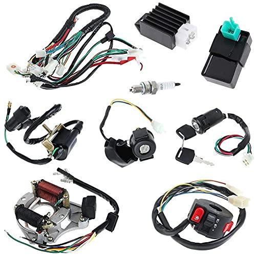 Cableado eléctrico Arnés 50CC 70 CC 90CC 110CC 125CC STORET STOR STANT STANT STAND KIT DE ARRES DE CDI, arnés de cableado eléctrico 50cc 70cc 90cc 110cc 125cc Electrics stator bobina CDI Kit de arnés