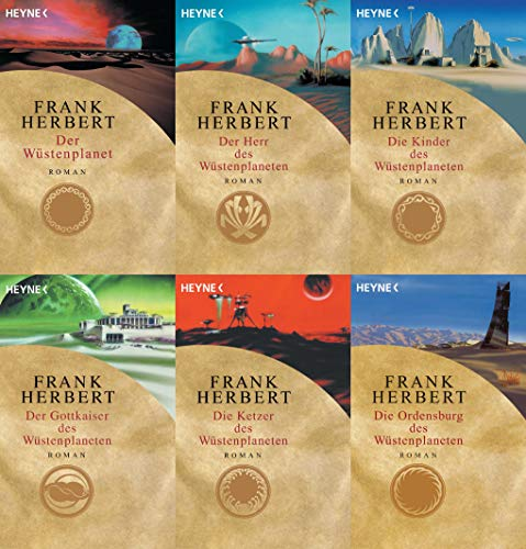 Wüstenplanet Band 1-6 ; Dune Zyklus plus 1 exklusives Postkartenset