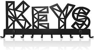 M-KeyCases Cuelga Llaves Pared Colgador Sweet Home Keys (10 Ganchos) Guardallaves Decorativo Ganchos de Metal para Cocina, Puerta de Casa | Portallaves Perchas Organizador | Decoración Vintage